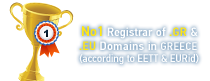 No1 Registrar in Greece (according to EEET)