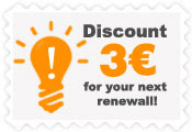 Transfer your domain to Papaki and get a  -3€ coupon for your next renewal.