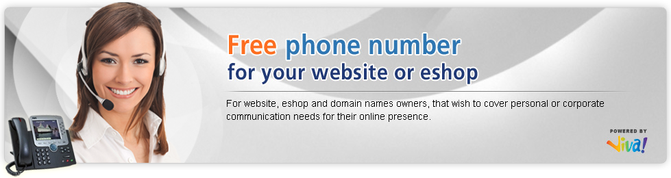 Free phone number for your site or eshop !