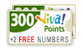Free 2 Viva numbers and 300 points